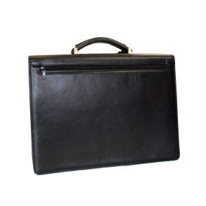 Luxusná kožená aktovka v čiernej farbe