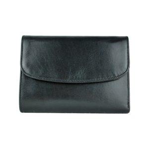 Kožená dámska peňaženka v čiernej farbe
