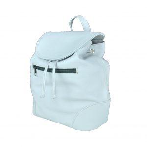 Kožený batoh v perlovej farbe (jemne sivá)