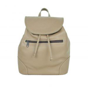 Kožený batoh vo svetlo hnedej farbe