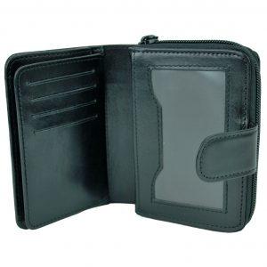 Kvalitná kožená peňaženka v čiernej farbe