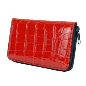 Lakovaná kožená peňaženka č.8627 v červenej farbe
