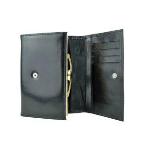 Dámska kožená čierna peňaženka z prírodnej kože