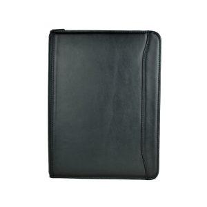 Elegantná kožená spisovka v čiernej farbe