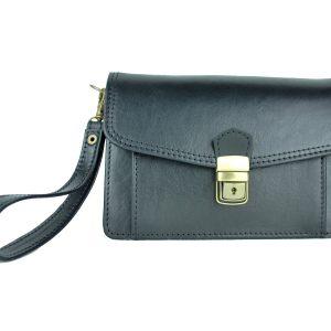Luxusná kožená etua, viacúčelové púzdro v čiernej farbe