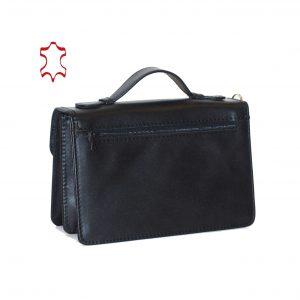 Luxusná kožená etuja, viacúčelové púzdro v čiernej farbe