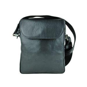 Luxusná kožená etuja z lesklej hovädzej kože v čiernej farbe