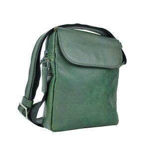Luxusná kožená etuja z lesklej hovädzej kože, ručne tamponovaná, zelená farba