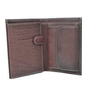 Luxusná kožená peňaženka v tmavo hnedo fialovej farbe