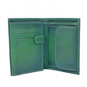 Luxusná kožená peňaženka v tmavo zelenej farbe