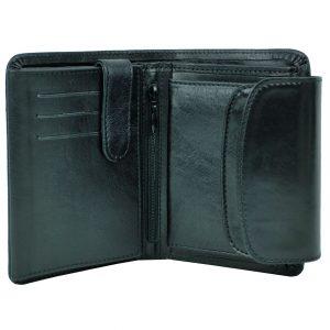 Luxusná kožená peňaženka v čiernej farbe
