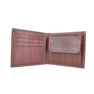 Luxusná peňaženka z pravej kože v bordovej farbe