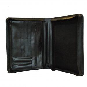 Luxusná kožená spisovka v čiernej farbe
