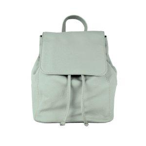 Moderný kožený ruksak z pravej hovädzej kože v šedej farbe