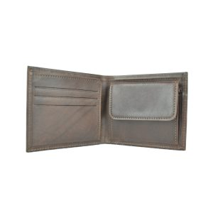 Luxusná peňaženka z pravej kože v tmavo hnedej farbe