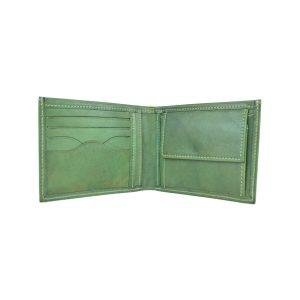 Elegantná peňaženka z pravej kože v zelenej farbe