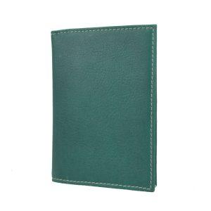 Púzdro na doklady z pravej prírodnej kože v zelenej farbe
