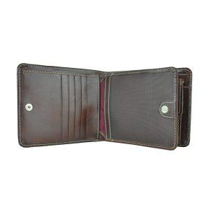 Peňaženka z prírodnej kože v tmavo hnedej farbe