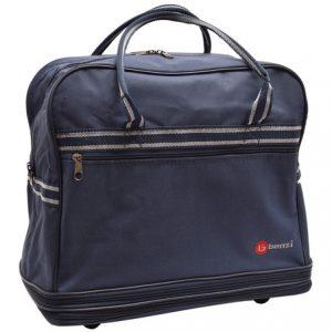 Cestovná taška modrá, sivý vzor