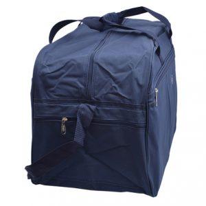 Cestovná taška modrá zipsová