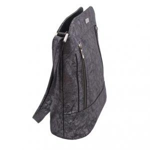 Dámská crossbody kabelka striebro zipsová