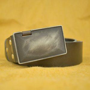 Ručne vyrobený kožený opasok Canister, 4cm, čierna farba