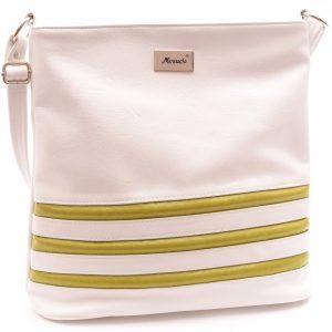 Dámska crossbody kabelka biela/zelená