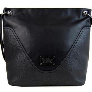 Veľká dámska crossbody kabelka čierna