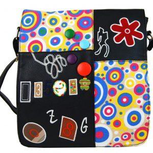 Dámska dizajnová taška na rameno 3060 čierna