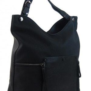 Čierna veľká kabelka cez plece 4145-BB