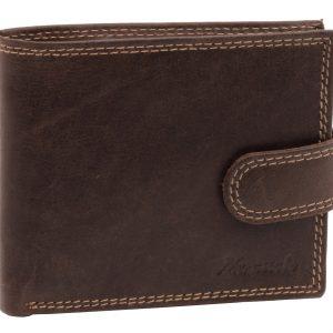 Peňaženka prešívaná hnedá