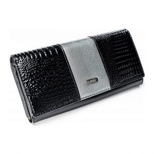 Strieborno-čierna peňaženka Cavaldi