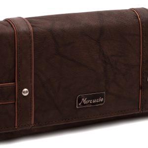 Peňaženka hnedé zdobená prešívaným