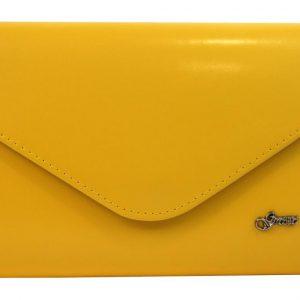 Banánovo žltá matná listová kabelka SP126 GROSSO
