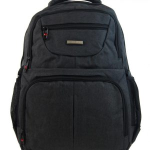 New Berry Elegantný polstrovaný školský batoh čierny