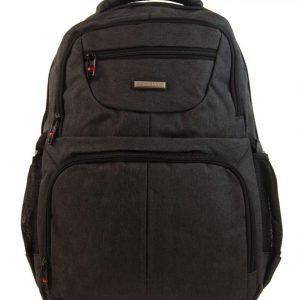 New Berry Elegantný polstrovaný školský batoh tmavo hnedý