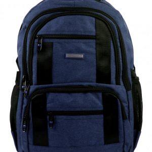 New Berry Elegantný polstrovaný školský batoh tmavo modrý