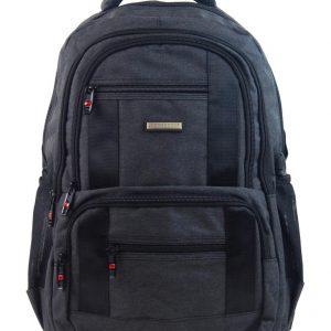 New Berry Elegantný polstrovaný školský batoh tmavo šedý