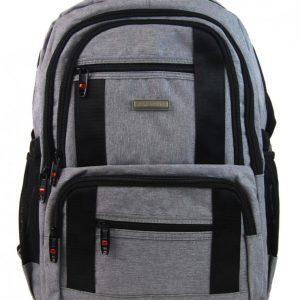 New Berry Elegantný polstrovaný školský batoh svetlo šedý