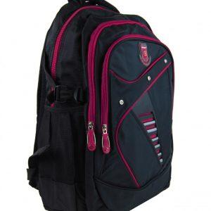 Väčší batoh do školy aj na športovanie čierno-ružový