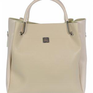 Béžová elegantná dámska kabelka S728 GROSSO