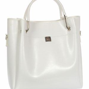 Biela módna dámska kabelka S728 GROSSO