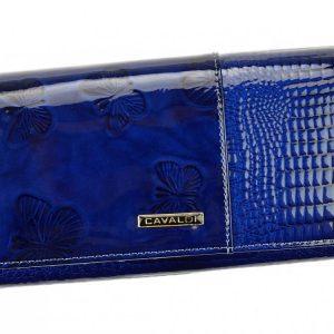 Kožená peňaženka dámska modrá v darčekovej krabičke Cavaldi
