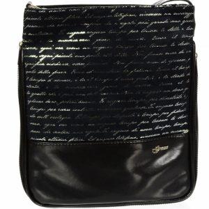 Čierna crossbody kabelka s potlačou M151 GROSSO