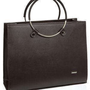 Čokoládovo hnedá moderná matná elegantná dámska kabelka S730 GROSSO