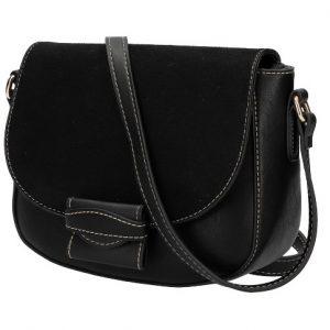 Crossbody dámska kabelka KR842 čierna