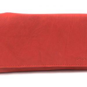Peňaženka s euromincovníkom prešívaná červená