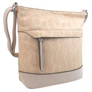 Crossbody kabelka s čelnou zipsovou priehradkou HB062 béžová