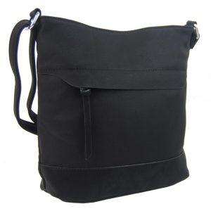 Crossbody kabelka s čelnou zipsovou priehradkou HB062 čierna