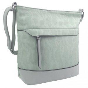 Crossbody kabelka s čelnou zipsovou priehradkou HB062 svetlá aqua modrá